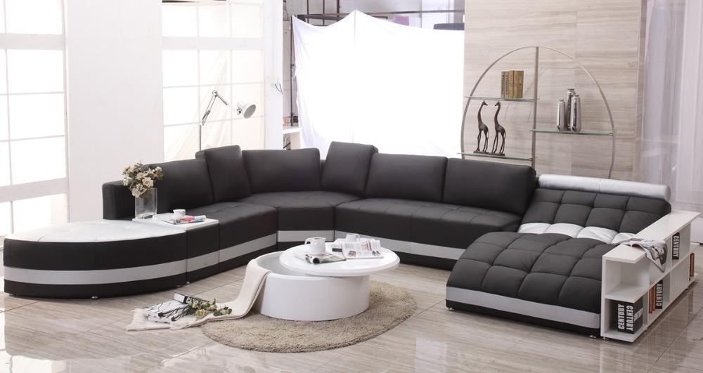 Sof s de couro italiano moderno genu no grande sof em - Sofas modernos italianos ...