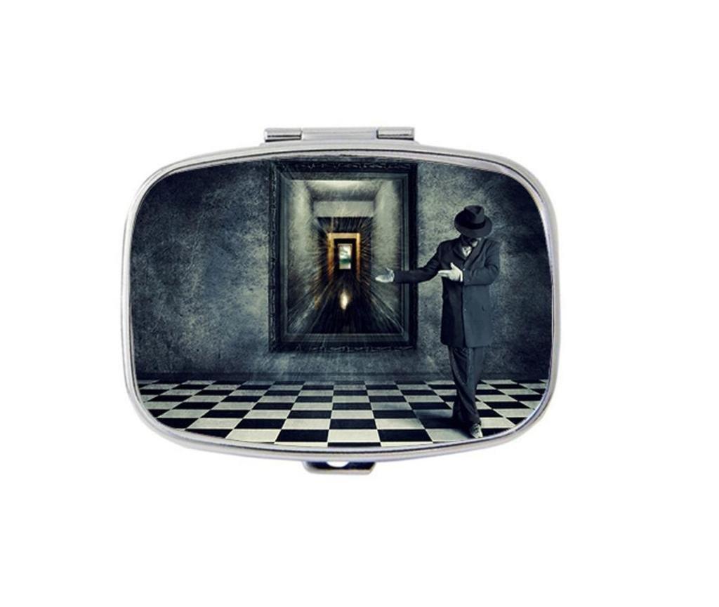 Carvin Design I Am Because I Want Custom Personality Square Medicine Pill Vitamin Box Case Storage Dispenser Organizer Holder