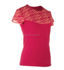 Women Colour Contrased Short Sleeve Runing T-shirt Red
