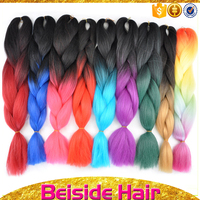 Hair Extension Type and Non Remy Hair Jumbo Braid 100 Synthetic Braiding Hair