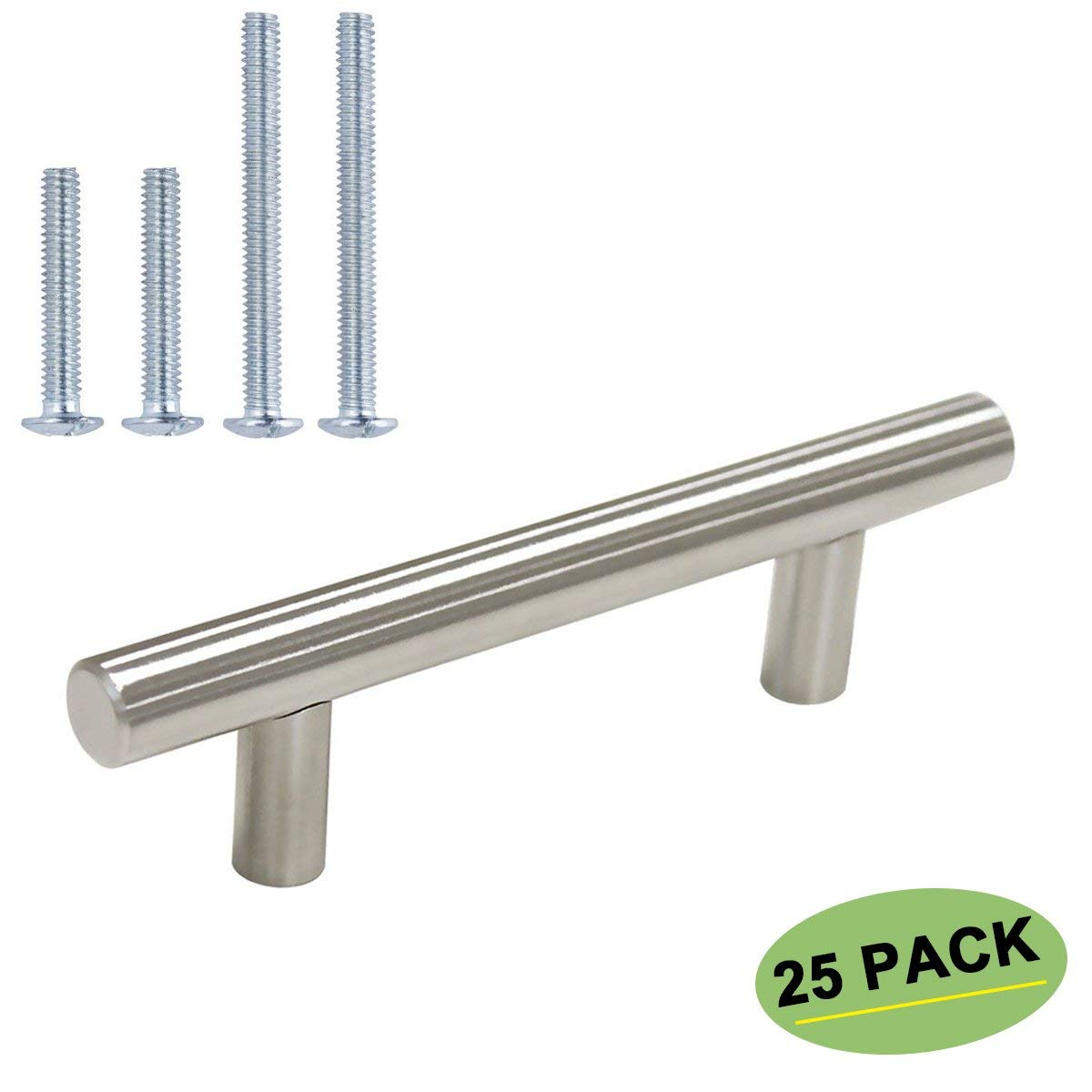 homdiy Bar Pulls for Cabinets Satin Nickel Cabinet Pulls 25Pack 76mm Center to Center Kitchen Handles for Cabinets Cupboard Handles Cabinet Handles Brushed Nickel Dawer Pulls 3 inch