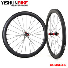 2017 YISHUNBIKE Chines Full Carbon Popular 700c Cycling Road Bike Carbon 26mm Wide 55mm Tubular Bicycle Wheels 240S-550T