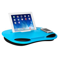 Portable multi-color optional laptop lap desk with iPad holder