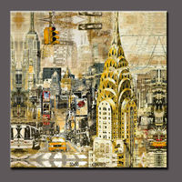 Abstract landscape painting in New York City