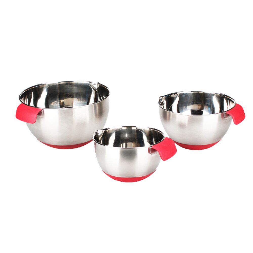 Promotional cheap silicon handle salad bowl kids soup for