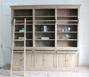 Hot Sale Designs Furniture French Provincial Bookcase With Ladder