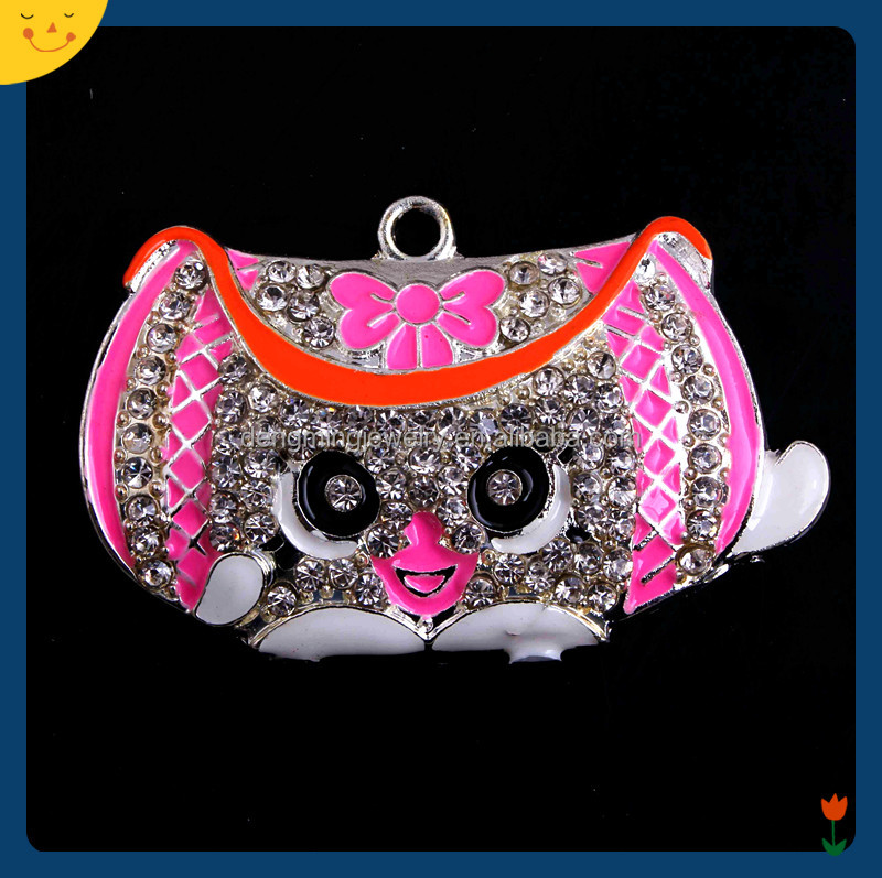 RP-077 Shopkins Crystal Rhinestone Chunky Pendant <strong>Charms</strong> for Kids Necklace Bubblegum Jewelry