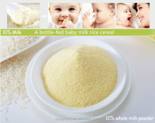 infant cereal with 10% milk powder; organic baby cereal; OEM baby food