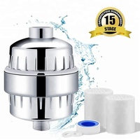 2019 New 15 Stage Universal Vitamin C Shower Filter with 2 Replacement Cartridges Reduce Impurities Remove Chlorine and Fluoride
