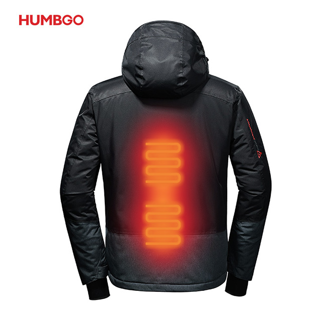 Graphene 5V 10000mAh Windproof Winter Jacket Heated With BatteryPack фото