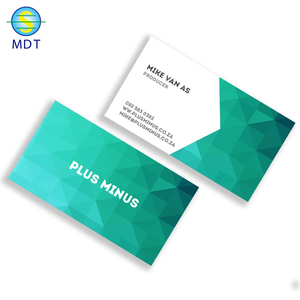 aluminum Thank you and blank id card business card