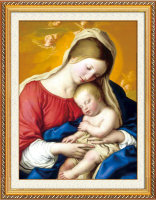 Baby Jesus and Virgin Mary DIY diamond painting with mixed sizes diamonds,5d crystal diamond embroidery painting