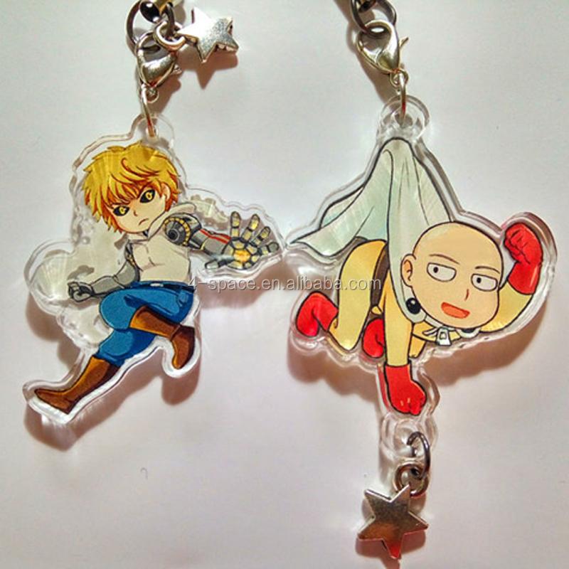 Anime Acrylic Keychain Keyring Cute Gift Custom Printed Acrylic Charms  Wholesale - Buy Custom Printed Acrylic Charms,Anime Keychain Keyring