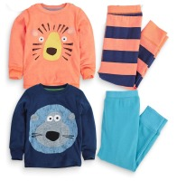 Online Shopping Kids 100% Cotton Costumes Pajamas Clothes Sets From Turkish