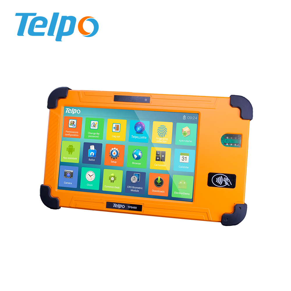 Telpo TPS450 Quad-Core 1.3GHz Handheld Rugged Pda Biometric for Coffee shop
