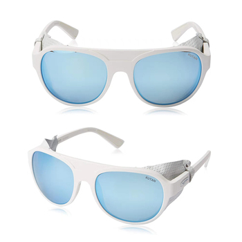 Kutan Traverse mountaineering sunglass with leather side shields for improved UV protection