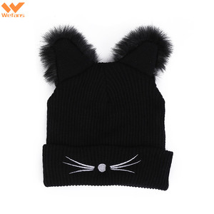 241e0f552ac Wefans AliExpress explosions fall and winter hot sale Harajuku style cat  ears fur hat ladies embroidered