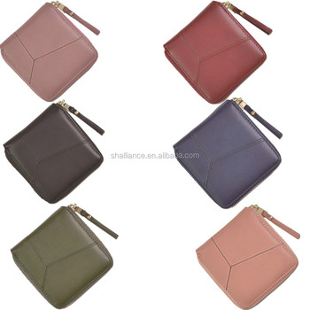multicolor cute printing hand made leather wallet for girls new