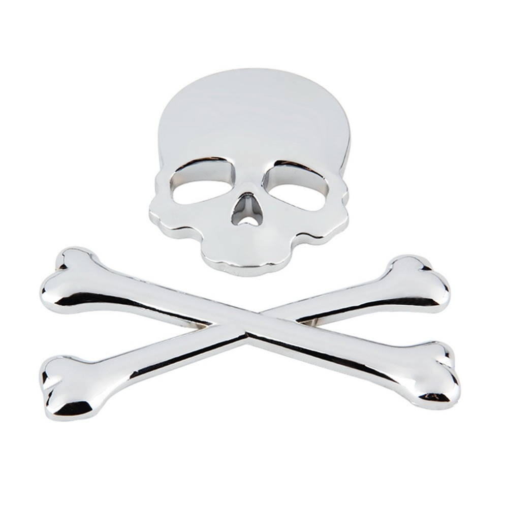 3D 3 m de Metal cráneo esqueleto calavera de la motocicleta del ...