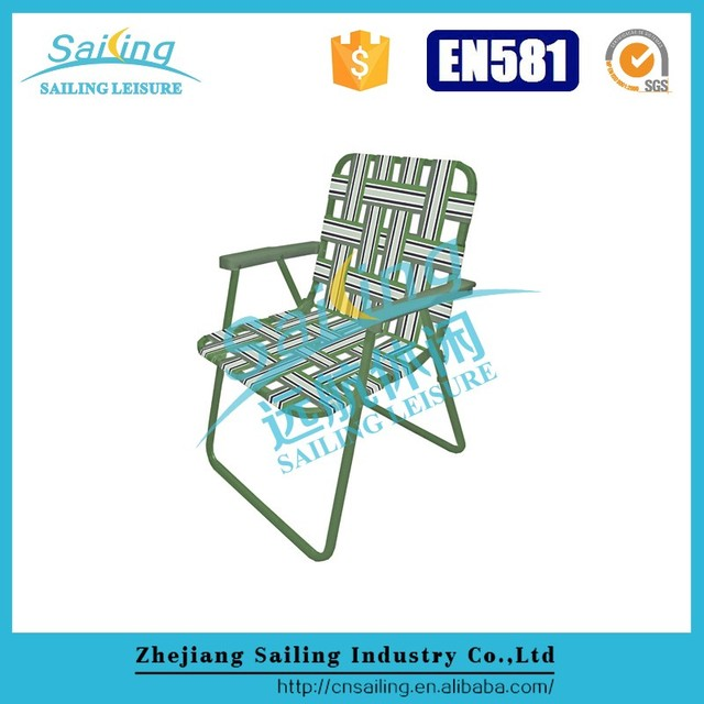 Easy Cleaning Hot Sell Aluminum Folding Rocking Lawn Chair Re Webbing
