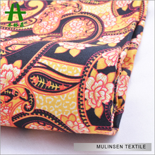 Mulinsen Textile 50s Cotton Sateen Printed Satin Weave 100% T-shirt Cotton Fabric 160GSM