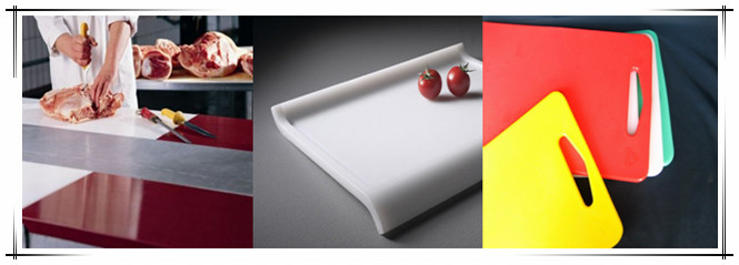 White color UHMW-PE cutting board plastic food grade HDPE sheet for kitchen