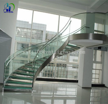 12mm Thick Tempered Safety Glass Railing Tempered Glass Entrance Door  Tempered Glass Stair Treads