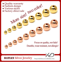 XD BK006 Wholesale 14K Gold Filled Beads 2mm/2.5mm/3mm/4mm/5mm/6mm