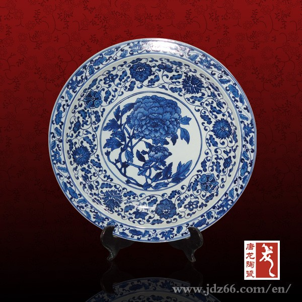 Vintage home decor inexpensive china plates from Jingdezhen