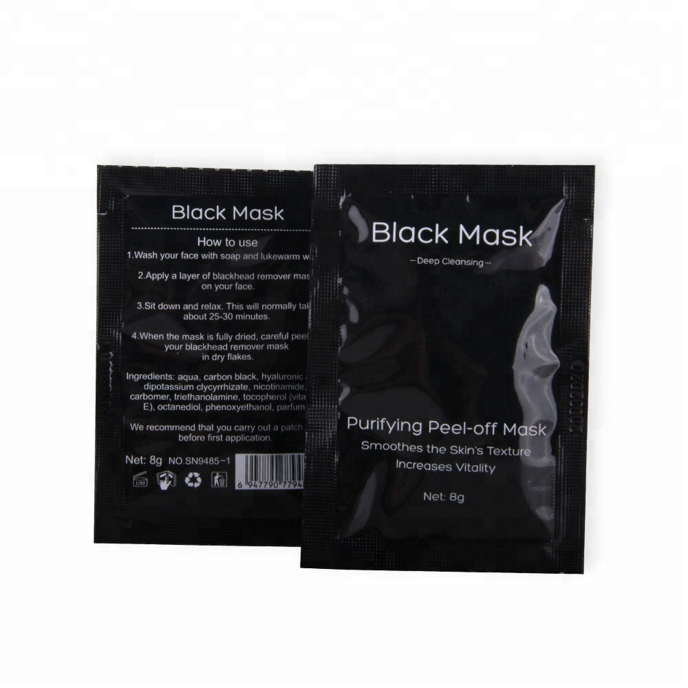 OEM Private Label black head removal mask power peel off black face mask фото