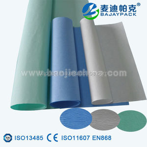 Packaging material crepe paper green/white/blue