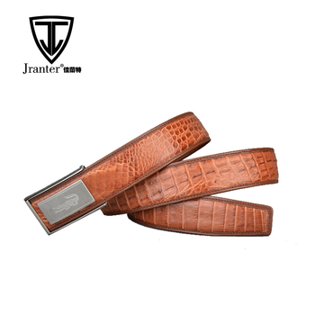 Handmade 105-120cm Length Genuine Crocodile Leather Business Belts Without Hole