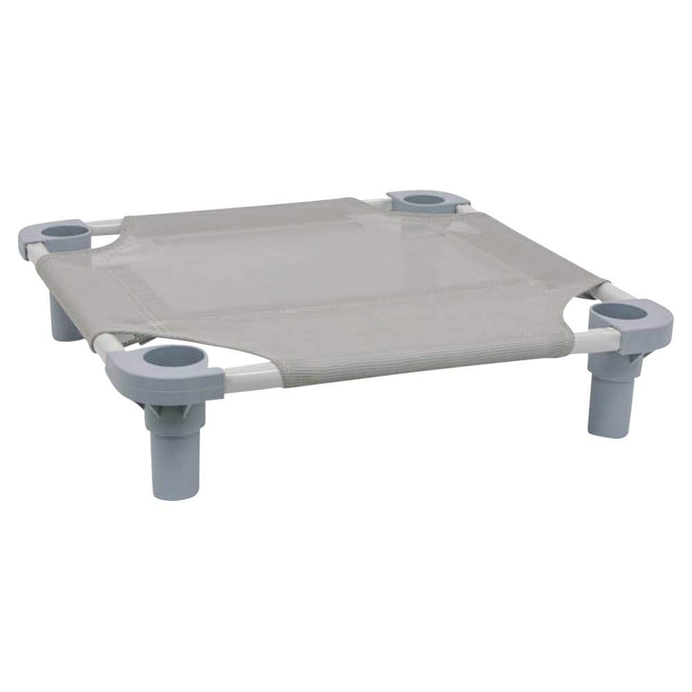 "Pet Cot Size: Small - 22"" L x 22"" W, Leg Color: Gray, Fabric Color: Gray"