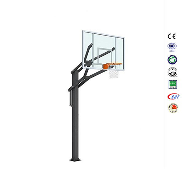 Height adjustable inground basketball stand basketball mini hoop with logo
