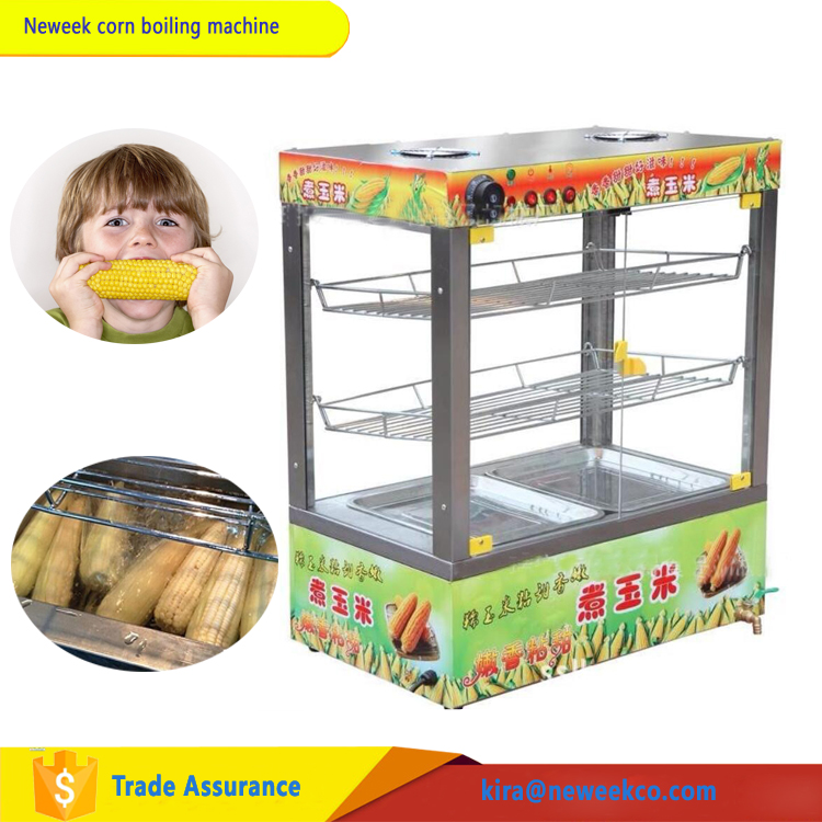 NEWEEK with display case egg boiling pot sweet fresh corn machine for sale