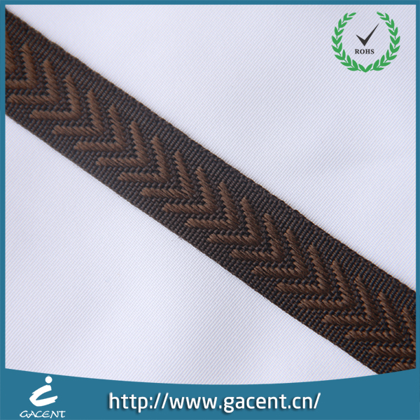 Woven jacquard striped clothing webbing for decoration