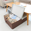 Home closet organzier collapsible fabric cardboard under bed storage box with lid