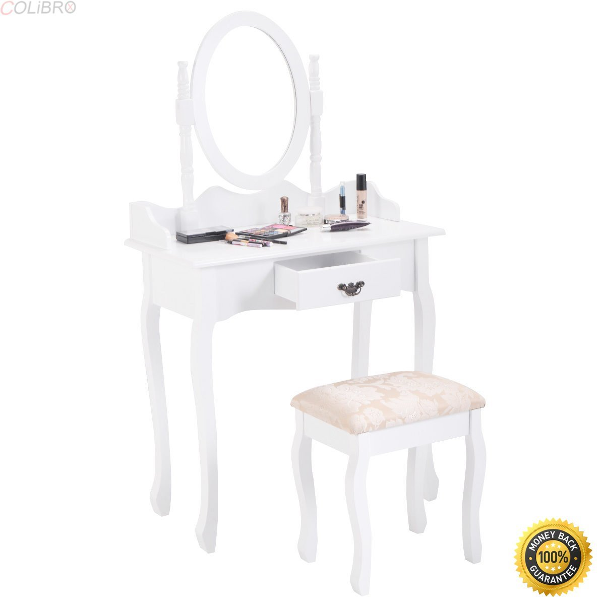 Buy Homcom Modern White Dressing Vanity Table Make Up