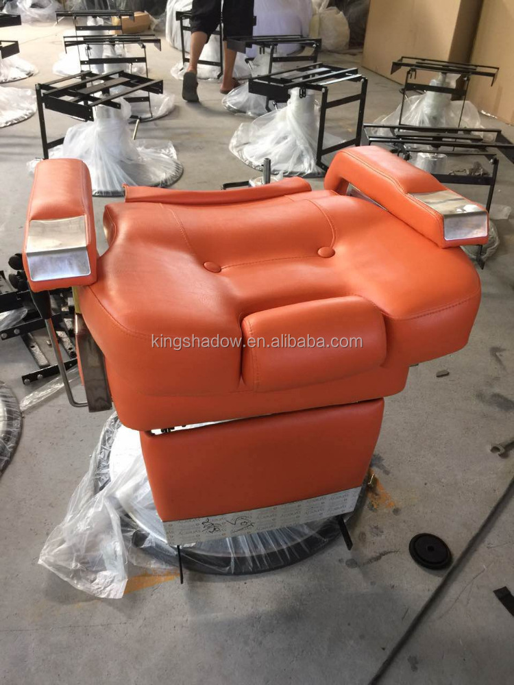 2016 Orange barber chair foldable barber chair hair salon barber chair for man