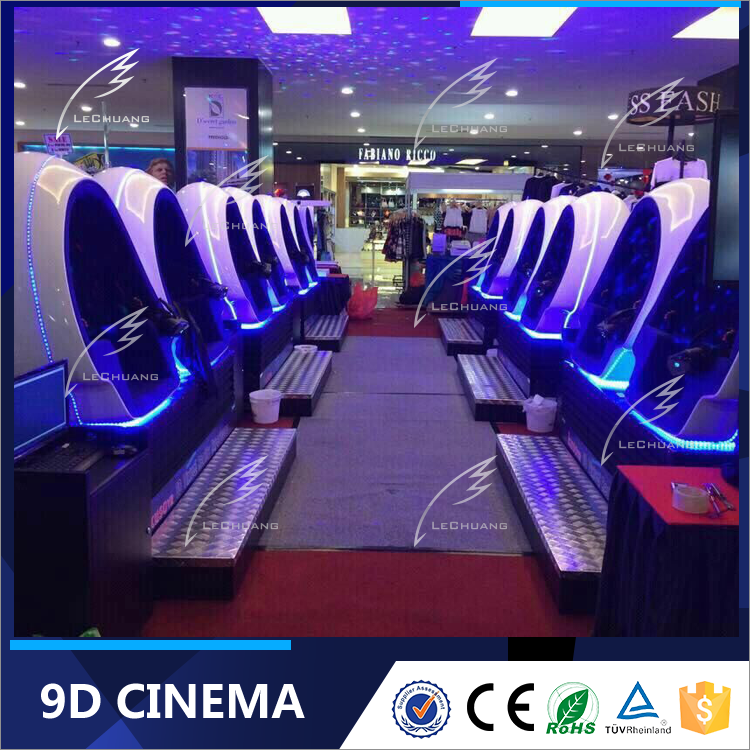 Popular Virtual Reality Simulator 9D Theater Chair with Multiple Dinosaur Games