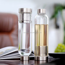New product Hot or Cold Glass Tea Tumbler Bottle,borosilicate glass tea infuser mug
