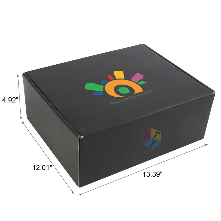 black matte corrugated mailer packing box fefco 0427