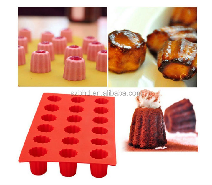 18 Cavities Pudding Silicone Cake Mold ,Cake Pan Muffin Cups Handmade Soap Moulds ,custom baking mold