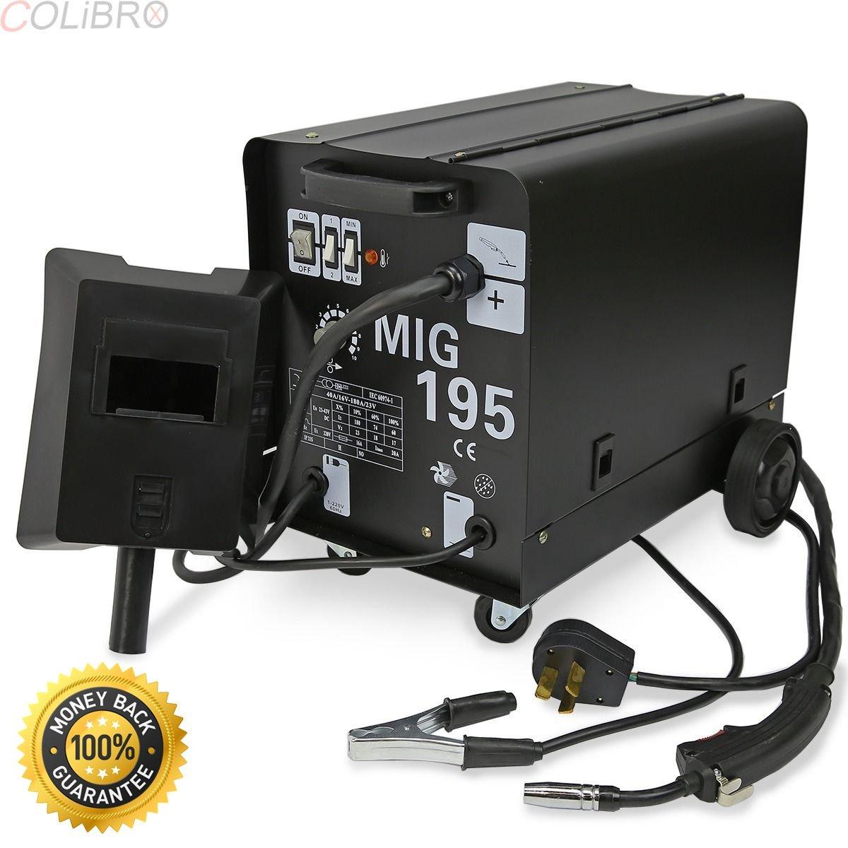 Get Quotations COLIBROX 195 AMP DUAL MIG 230V Flux Core Auto Wire Welding Machine
