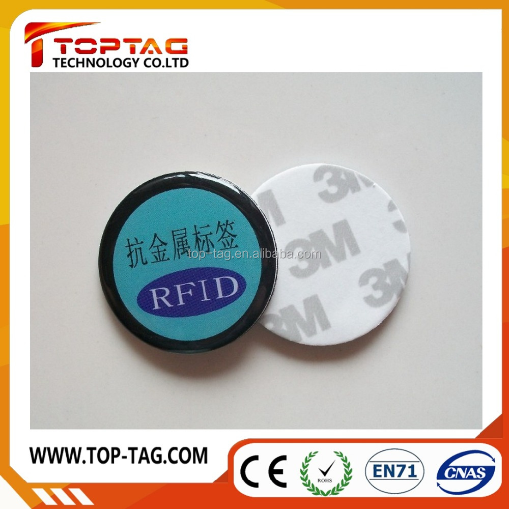 RFID passive anti metal stickers / tags for device management