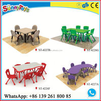 2016 Australia Favourate wooden kids party table chairs