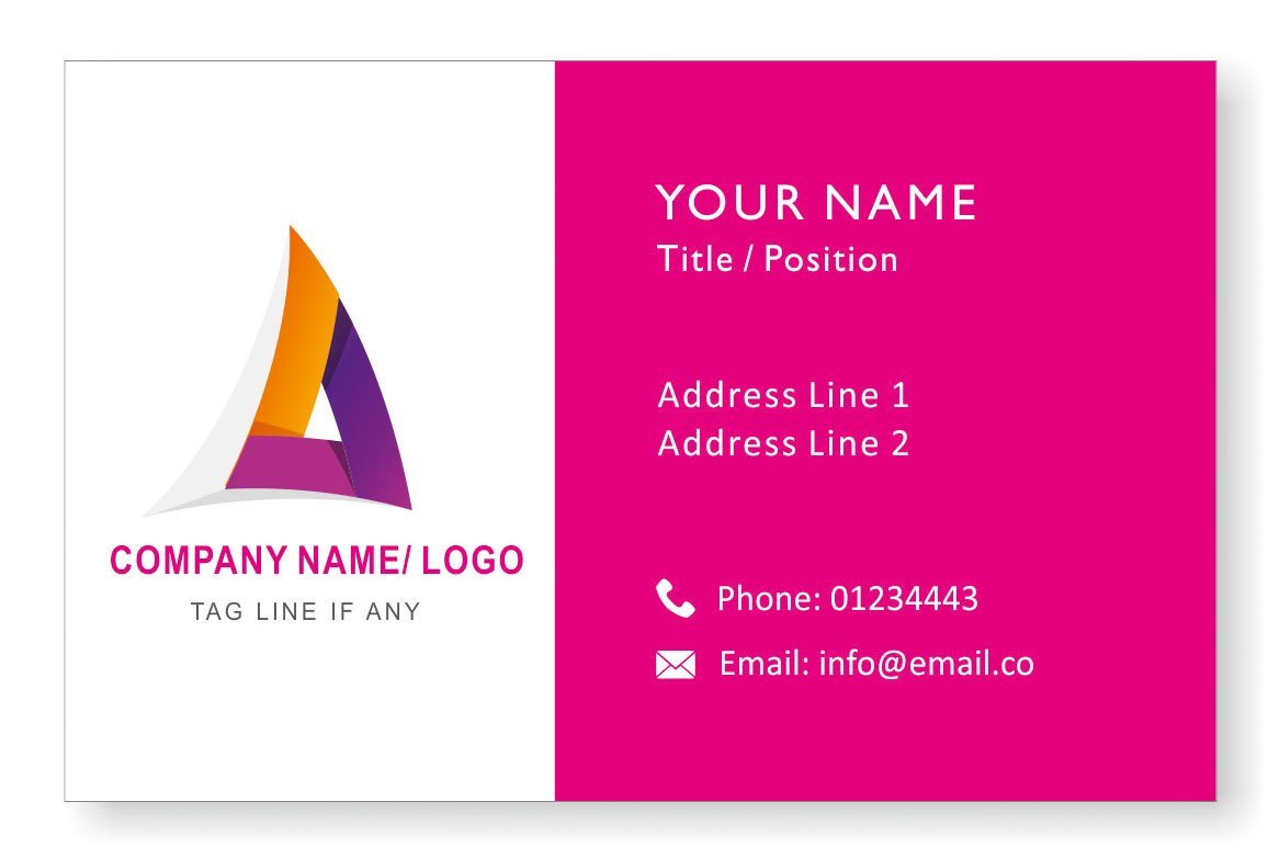 Design Your Own Personalised Logo Business Cards Custom Professional Company Visiting Card- Front