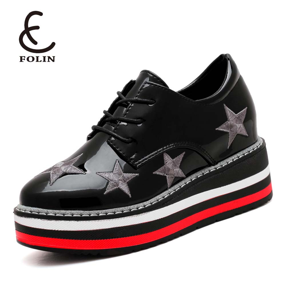 aliexpress ladies shoes made in yiwu shoes factory patent leather sea star platform shoes women