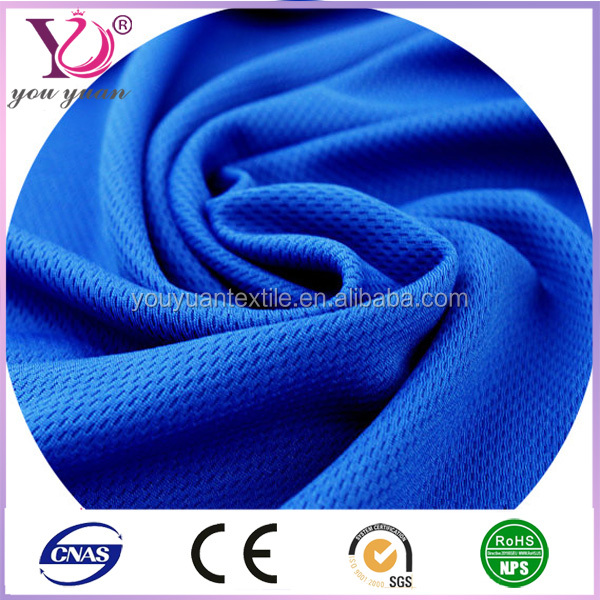 100% cotton soft water proof new design mesh fabric for sportswears/garments