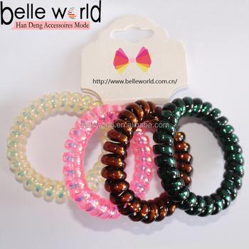 4385565aea32 Colorido espiral flexible estirable primavera pulsera llavero para ir de  compras